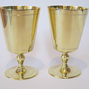 Tiffany & Co Pair sterling silver large goblets. Gilded. very beautiful.
