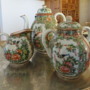 Chinese Export  Rose Medallion 1920 era Tea Set