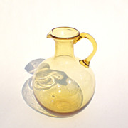 Amber Pitcher - Vintage Glass Pitcher
