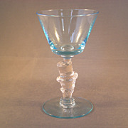 Morgantown Elegant Glass Light Blue Top Hat Cocktail