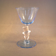 Morgantown Elegant Glass Gloria Blue Top Hat Cocktail