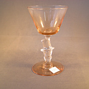 Morgantown Elegant Glass Peach Top Hat Cocktail