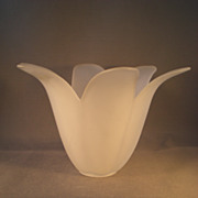 REDUCED Sweet Satin Glass Tulip Vase