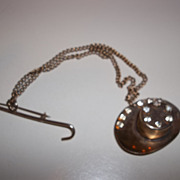 Fourties Chatelaine woman's hat and walking cane,