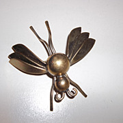 Large butterfly, or moth, brass, nicely done Mid 50's