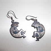 Mid 1960's Kachina sterling silver earrings