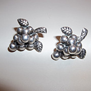 Mid 1930'3s Grape earrings signed times