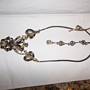 Vintage HollyCraft great looking rhinestone necklace, 1957