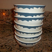 Set of 7 Walker China   Oatmeal bowls 1939