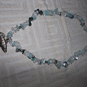 Mignon Faget' Sterling speckled trout gemstone choker necklace.