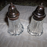 Vintage Crystal salt and pepper Leonard from Japan