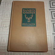 Bambie's Children hard back book 1939
