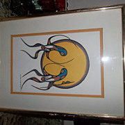 Vintage screen print by Goyce Kakegamic.  signed