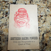 Trading Card,   black americana  Baking powder Card