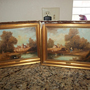 Pair of  Oil paintings 40's-50's signed Belli