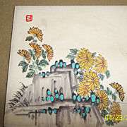 Vintage 60's-70's hand painted southwest tile signed