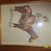 An Arizona Cowboy large print Fredric Remington