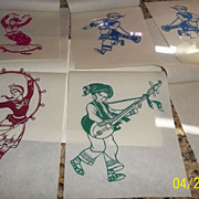 Vintage Chinese Folk Paper-Cuts x 6