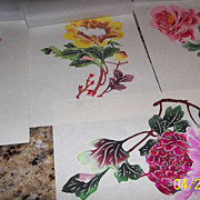 Five Stunning Flowers Chinese Paper-Cuts x 5