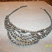 Gorgeous Drippy rhinestone necklace three shape rhinestone