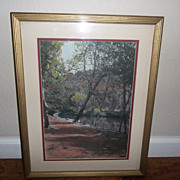 Outstanding Gorgeous Pastel Painting of our Beautiful Sedona Az.  signed