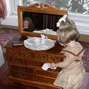 Musical Wooden Maple Doll Dresser