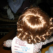 Small Curly Strawberry Blonde Replacement Wig
