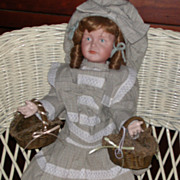Two Moss Trimmed Baskets Doll Size