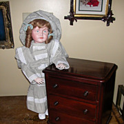 Antique Cherry Wood Doll Dresser Salesman Sample