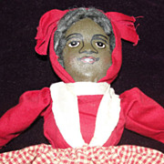 Antique Bruckner Topsy Turvy Horsman Baby Land Rag Doll