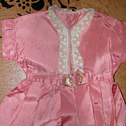 Vintage Salmon Pink Dress For Composition Or Hard Plastic Doll