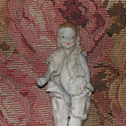 Doll House Size Bisque Doll Pin Jointed Very Old
