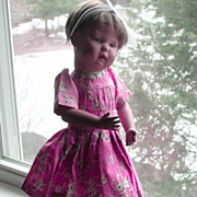 Schoenhut Wood Walkable Doll Original Paint Model 17/108W