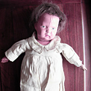 14 Inch Wood And Cloth Schoenhut Mama Doll 1920's