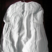Old White Cotton Baby Doll Gown