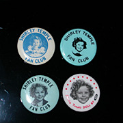 Four Shirley Temple Pin Backs One Is Vintage 1972