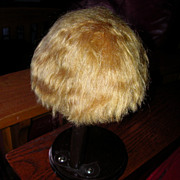 SALE Vintage Bobbed Style Blonde Mohair Wig For Antique Toddler Or Baby Doll