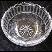 SALE Full Lead Crystal Bowl
