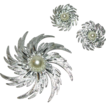 Sarah Coventry Pinwheel Pin and Earrings