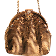 Whiting and Davis Gold Mesh Purse c. 1955