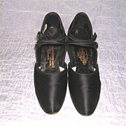 Edwardian Era Ladies Silk Shoes
