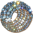 Blue Rhinestone Trifari Brooch
