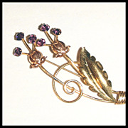 Signed Van Dell Thistle Brooch