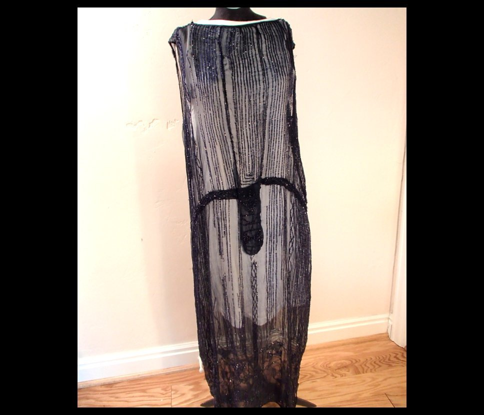 1920s Beaded Flapper Dress from grandmasjewelry on Ruby Lane