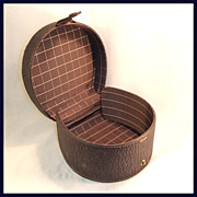 Brown Leather Gentleman's Collar Box