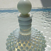 SALE Vintage Fenton Opalescent Hobnail Bottle