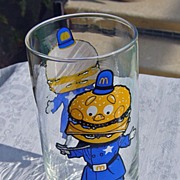 SALE Vintage 1977 McDonald's  Big Mac Collector Series Glass