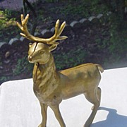 SALE Vintage  Stag Deer Cast Iron Bank