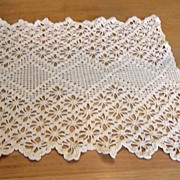 SOLD Vintage Crocheted Square Shaped Doily