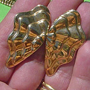 SALE Vintage Avon Butterfly Wing Shaped Clip-On Earrings